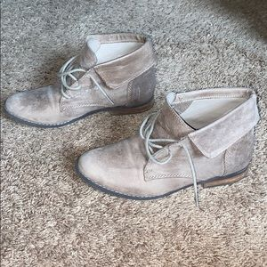 Steve Madden indie ankle leather tan boots vintage